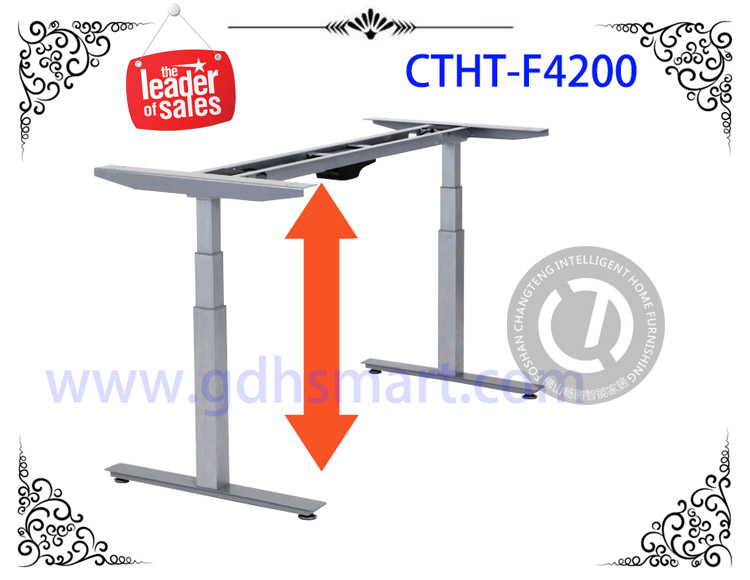 Electric Lifting Table Frame executive office desk metal adjustable table legs