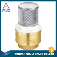 durable pvc pipe check valve DN 20 flapper Cw617n material and new bonnet motorized union double cock valve low price in TMOK