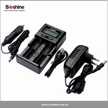 2 slot lcd display smart li-ion nimh/nicd rechargeable 9v 8.4v 7.2v 6v 5.5v battery charger 12v NiMH 8.4V battery charger