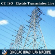 Steel Galvanization Electrical Power Pole For Transmission Line