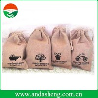 printed organic jute burlap cosmetic packing