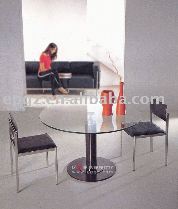 Round glass meeting table,office discussion table, executive furniture