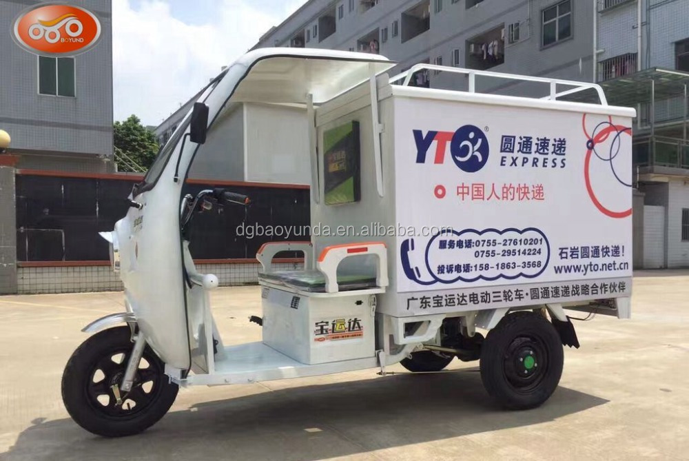 New, large size electric cargo tricycycle for delivering