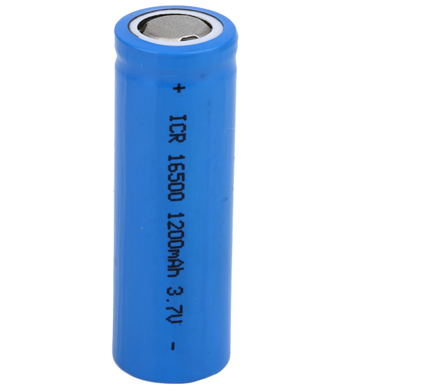 3.7V 1200mAh ICR16500 cylinder lithium li-ion rechargeable battery cell for e-cigarette