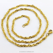 High Quality Gold Stainless Steel Statement Girls Necklace Chain