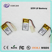 Free-pollution 60mah mini lithium polymer battery 3.7v rechargeable li ion batteries 281223