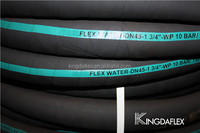 High tentile textile braided industrial rubber hose for air and water suction with OEM service