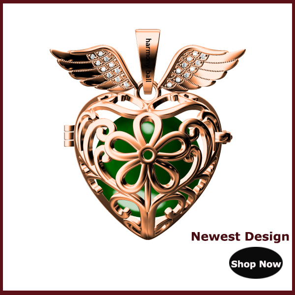 Newest Design love birds angel caller,harmony ball cage pendant necklace