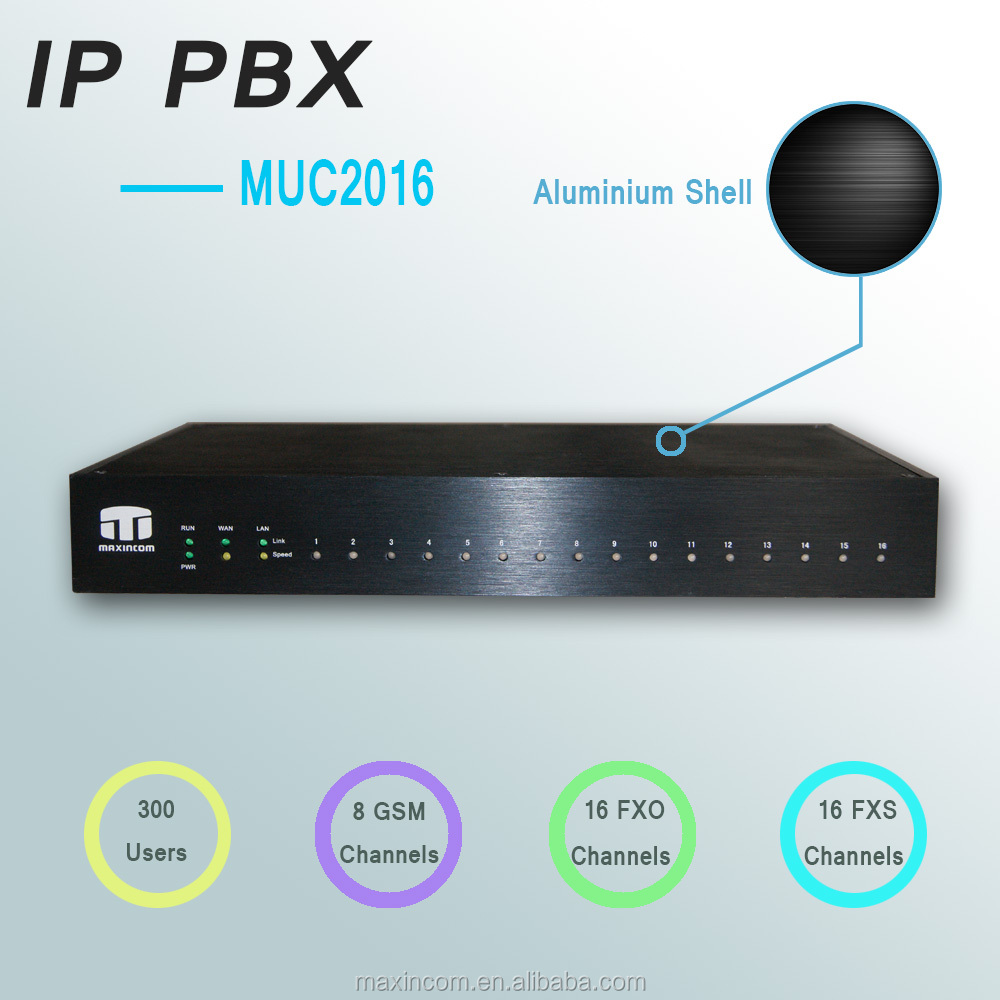 IP pbx 16 ports with GSM/FXO/FXS module basic design system of corporate communication