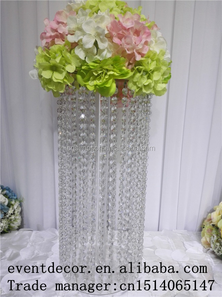 Wholesale 6 size different high crystal or acrylic total clear LED cake stand
