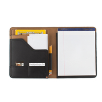 Document A4 leather compendium distressed leather folder