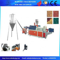 High Efficiency Used Plastic Granulating Line One / Double Stage Waste HDPE Pellet Making Machine