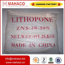 Zinc Sulfide ZnS Paint pigment lithopone zns 28%-30% coating plastic rubber pigment factory direct