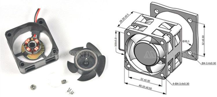 High Cfm 12v Cooling Fans : S dc v fan high cfm mini cooling mm