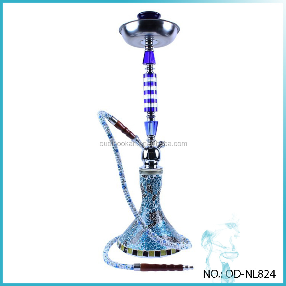 Hot Sale Crystalized Hookah Stripes 69cm Waterpipe Narghile Blue