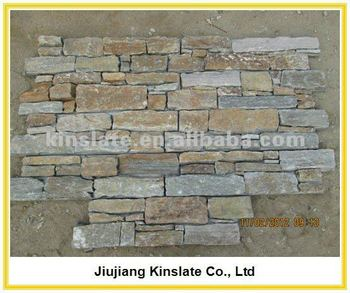 Natural Rusty Quartzite 3d Decoration Stone Wall Panel