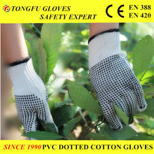cheap goods from china cotton gloves with PVC dotted gloves
