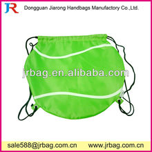 Sport Event Green Gym Soccer Drawstring Bags