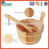 Hot sale elegant sauna accessories for sauna spa bath use wooden sauna spa bucket sale