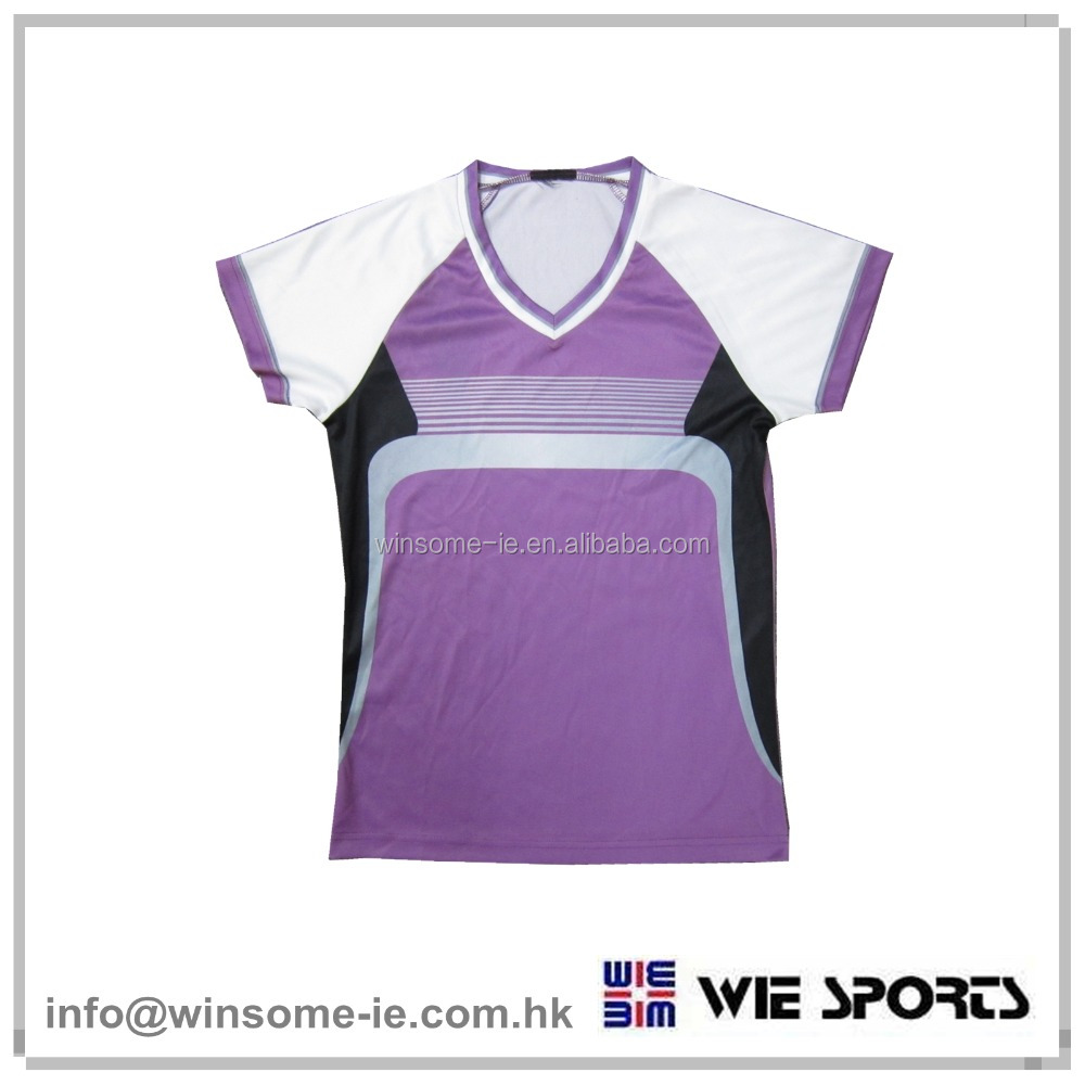 Promotional colourful ladies / girls 100% polyester sublimation printed breathable t shirt