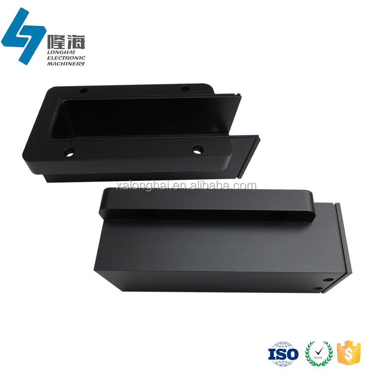 High quality custom made cnc milling sandblast black aluminum box