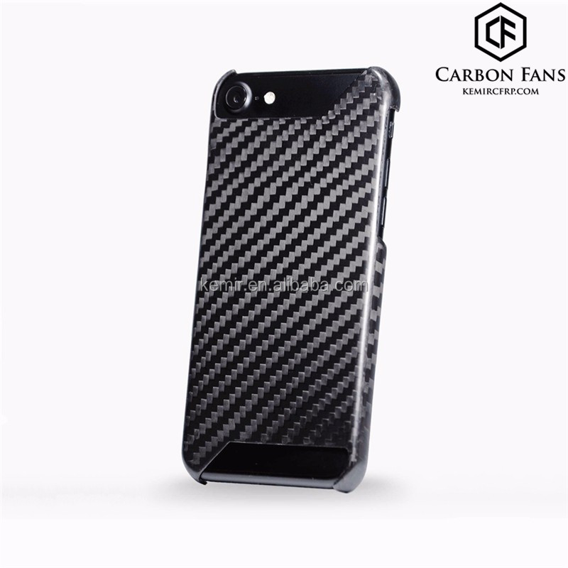 Cutted or Full covered optional for iPhone 7P iPhone 7 100% Real Carbon Fibre phone case