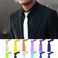 Men Bow Formal Necktie Leisure Slim Narrow Arrow Skinny Tie