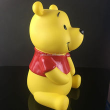 Factory produce promotional cartoon character custom made plastic coin bank