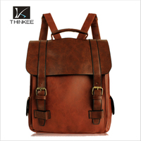 Retro style fashion european high quality women leather backpack bag
