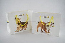 Cute dogs printing white kraft paper handbags