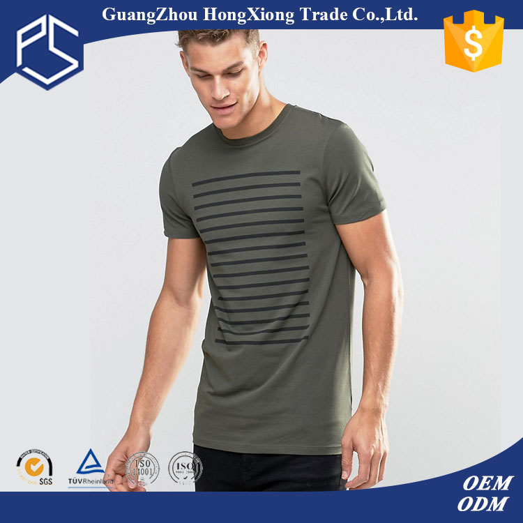 Hongxiong OEM High Quality 100% Cotton Stripe Pattern Men's Fabric Materi For T Shirt