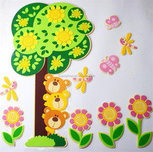 Promotional Custom Design Room Decoration EVA Wall Sticker For Kids