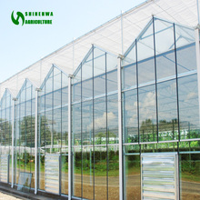 china commercial glass greenhouse for used