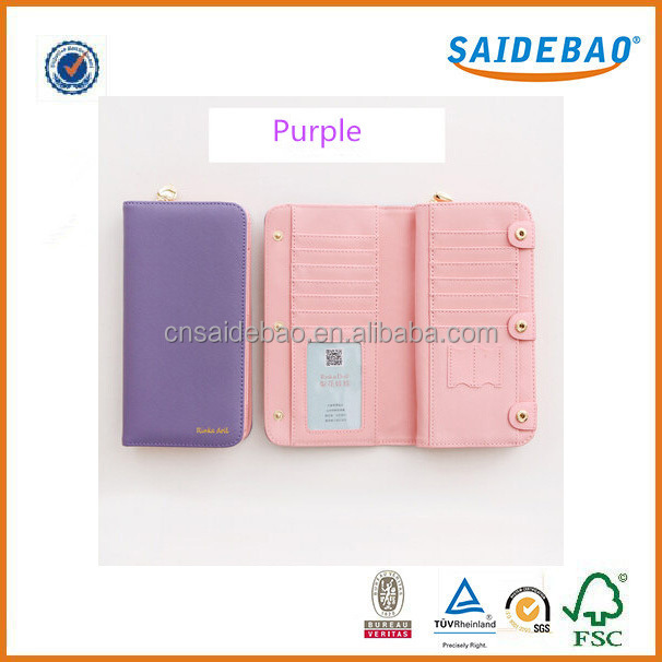 2016 Hot-selling brand lady wallet , colorful and fashion multifunction pu leather women wallet with 14 card slots .