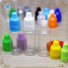 colors 15 ml PET thin tip e-cig oil eye dropper bottle pure nicotine pet bottles for cooking oil