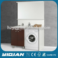Home Washing Clothes Laundry Furniture Set Hot Sale Floor Standing Melamine Washing Machine Bathroom Cabinet