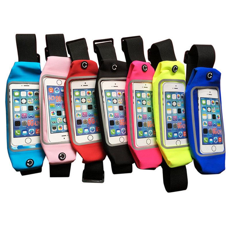 Running sport waist bag for iphone samsung, for iphone waterproof phone case <strong>belt</strong>