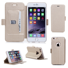 Best Quality Leather Card Holder Flip Stand Phone Case For iPhone 6 plus
