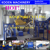 KOOEN recycle pet plastic scrap
