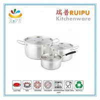 Stainless steel hot pot pan / kitchen pots and pans / decorative cookware set with new design