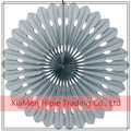 "16"" Grey Tissue paper Hanging Fan Wedding party background Decoration"