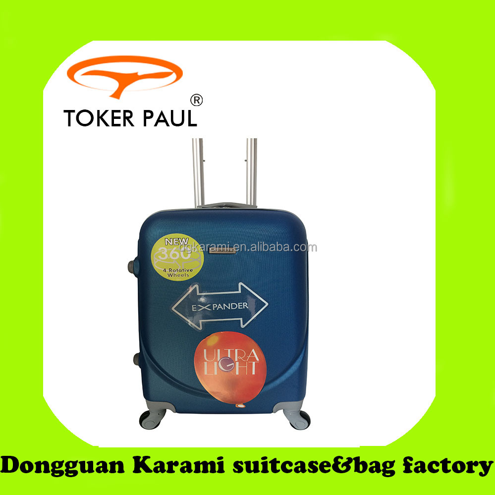 simple and fashion, 4 universal wheels hard trolley luggage, travel bag