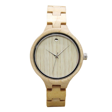 100% nature wood bamboo wrist watch man womens