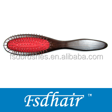 Best wood massage hair brush with metal pins