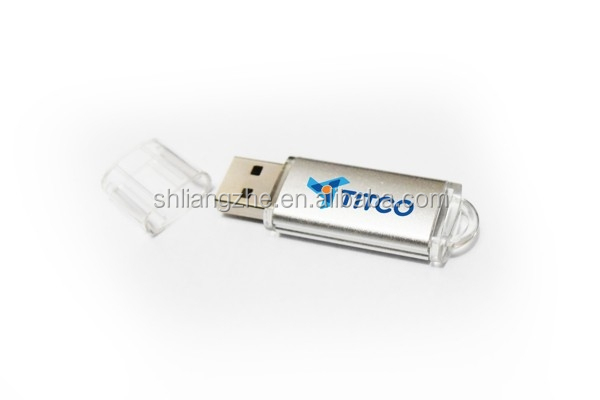 New Custom Logo Promotional Metal Usb Stick,Top Selling Silver Metal Bulk 4GB USB Memory Sticks