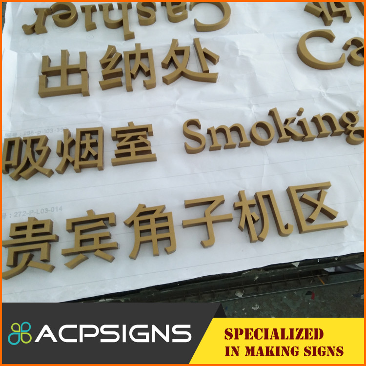 Manufacturer Supplier stainless steel signage mirror metal letter of China National Standard