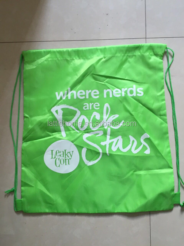 Customized high quality custom made clear pe material plastic drawstring bag Waterproof Drawstring Bag
