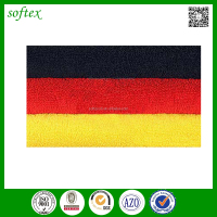 wholesale china factory cotton terry beach towel german flag