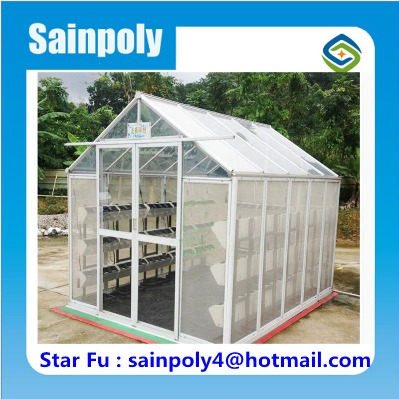 Small PC-sheet Covered Garden Greenhouse