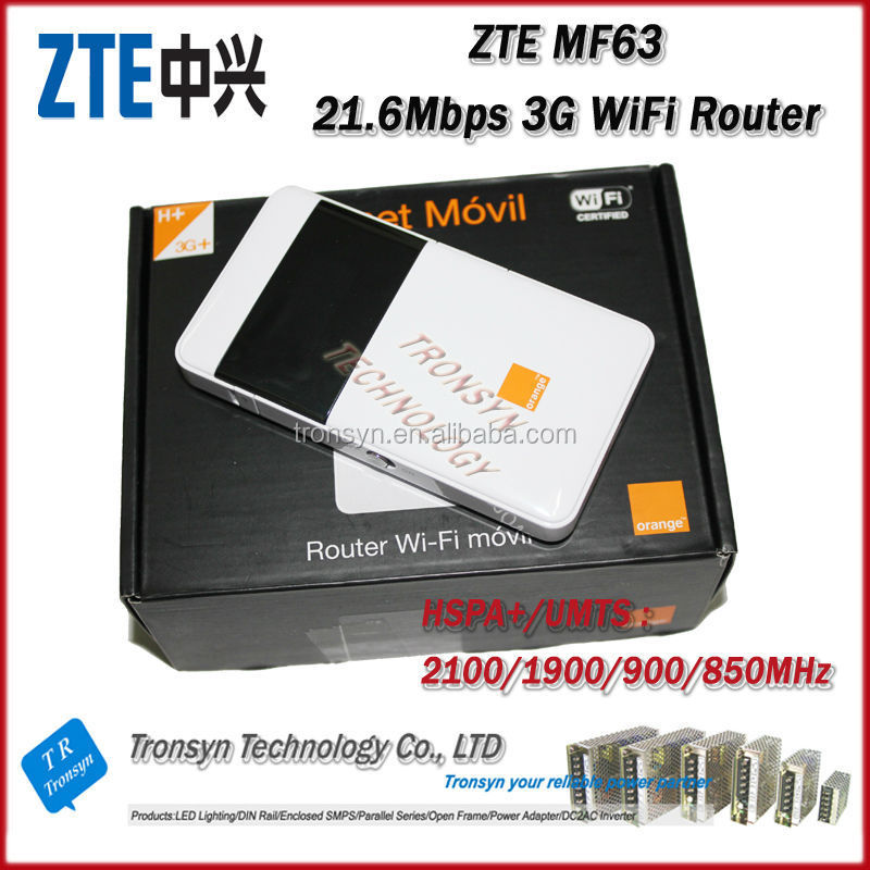 Hot Sale Original Unlock HSPA+ 21.6Mbps ZTE 3G WiFi Router For Buses MF63 Support UMTS 900 2100MHZ